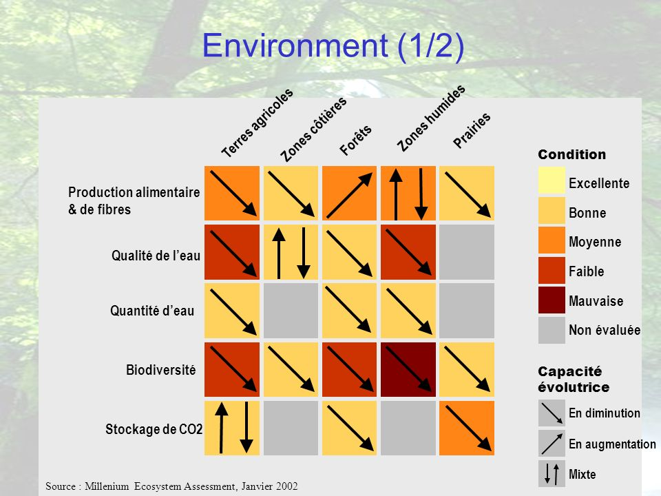 Environment (1/2) Zones humides Terres agricoles Zones côtières