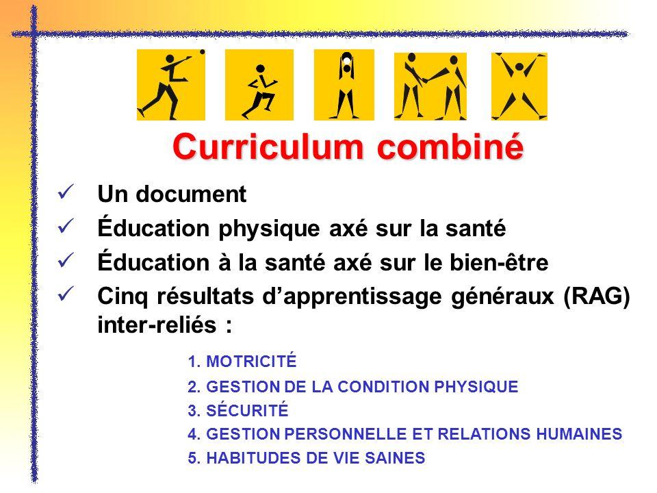 Curriculum combiné Un document Éducation physique axé sur la santé