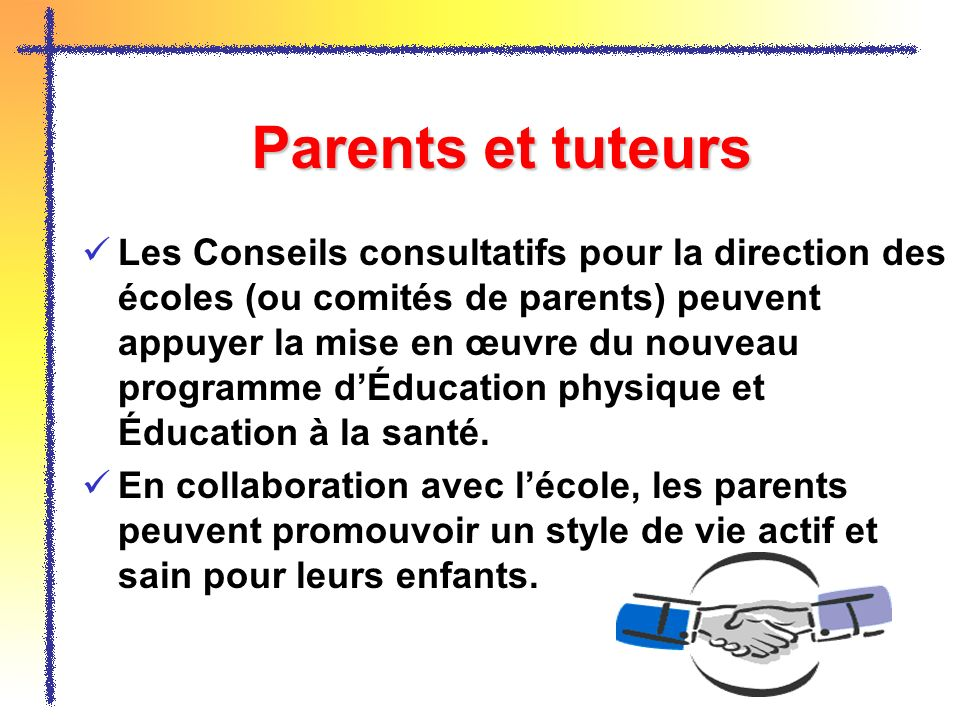 Parents et tuteurs