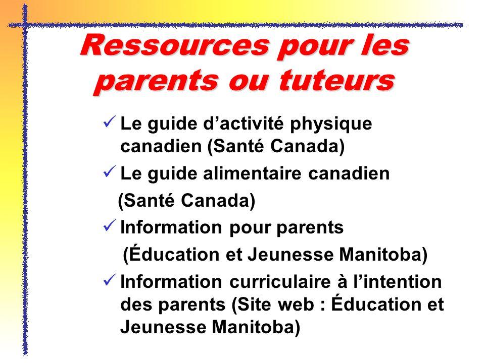 Ressources pour les parents ou tuteurs