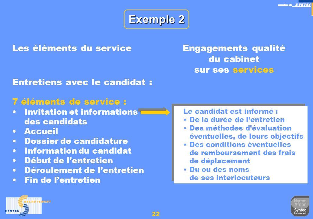 Engagements qualité du cabinet sur ses services