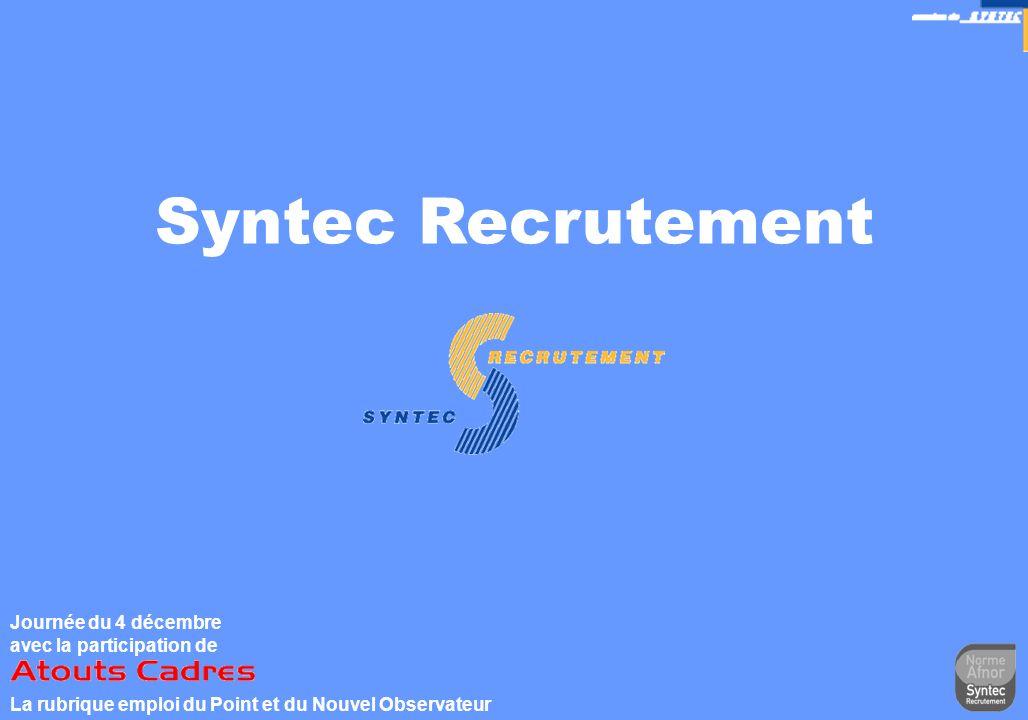 Syntec Recrutement Journée du 4 décembre avec la participation de