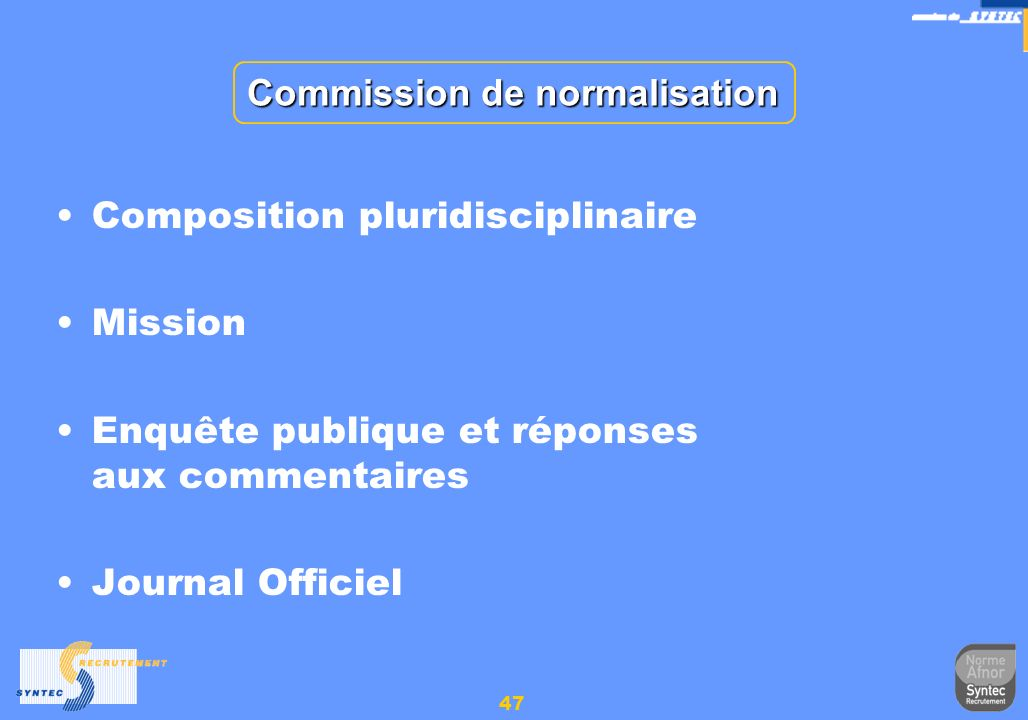 Commission de normalisation