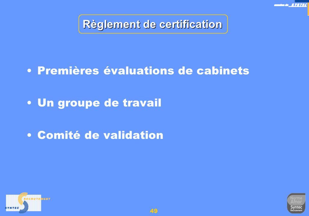 Règlement de certification