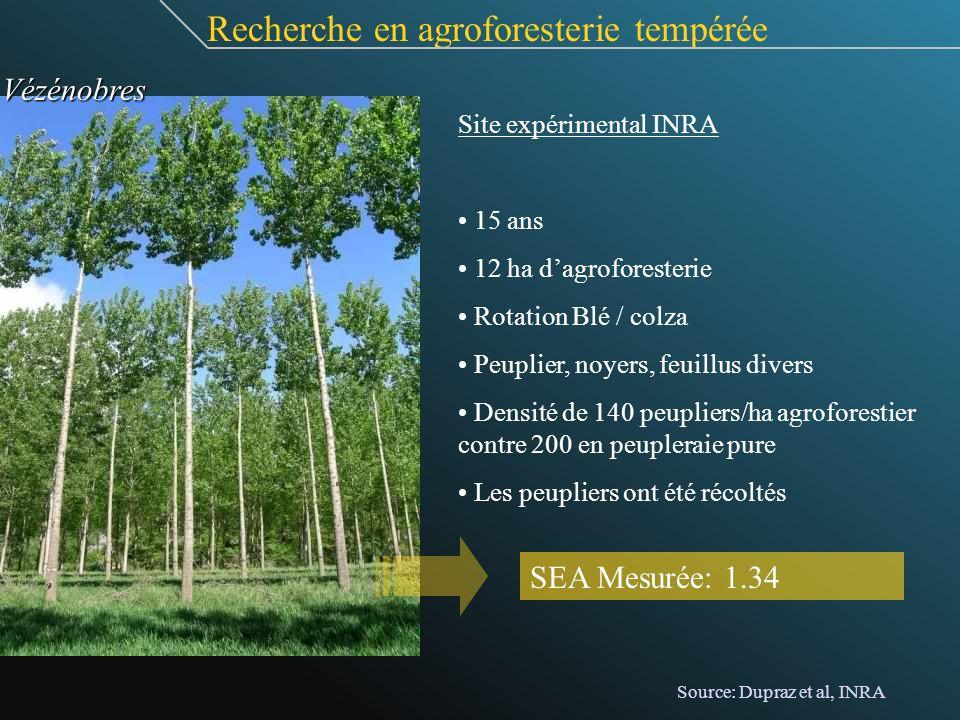 Recherche en agroforesterie tempérée