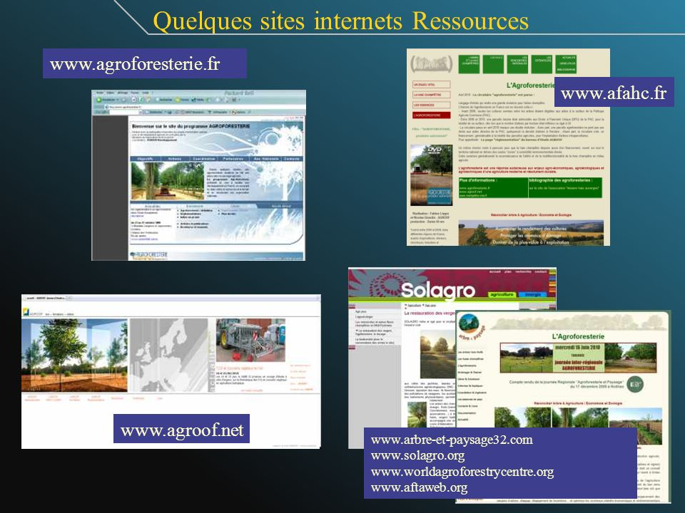 Quelques sites internets Ressources