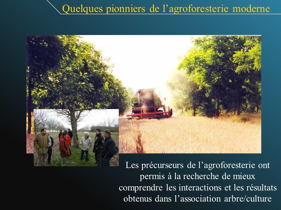 Quelques pionniers de l'agroforesterie moderne