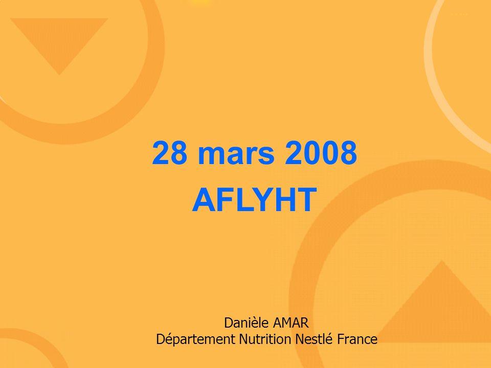 Danièle AMAR Département Nutrition Nestlé France