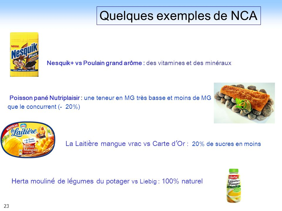 Quelques exemples de NCA