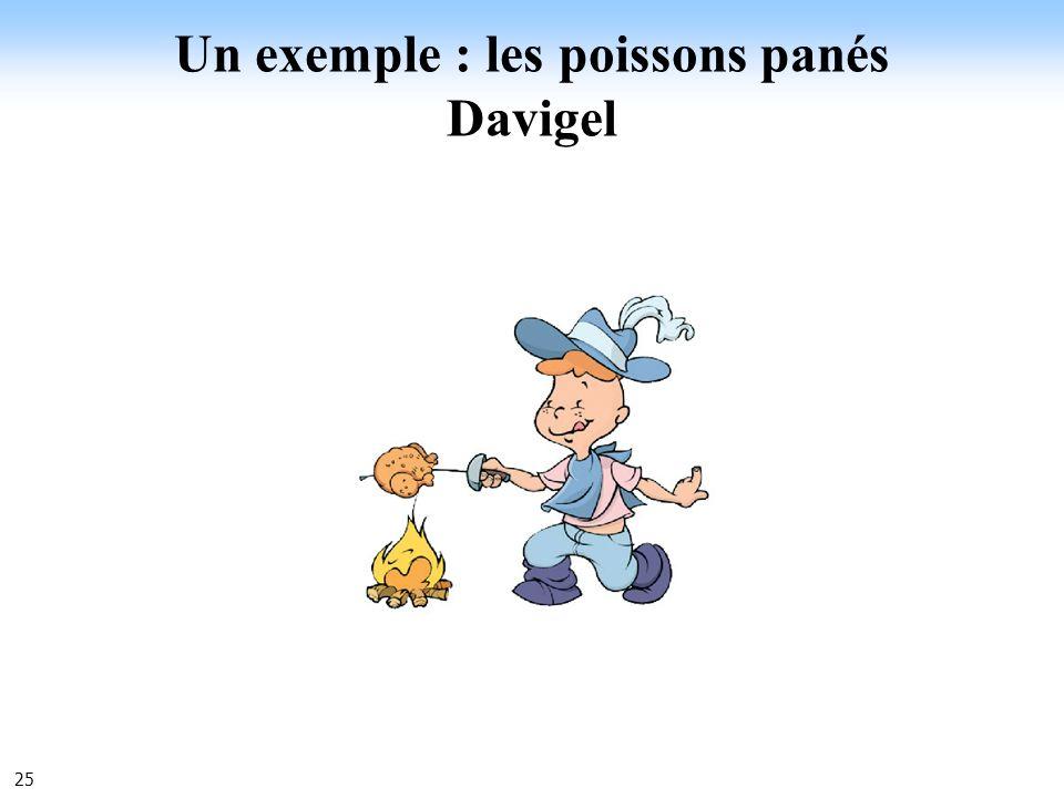 Un exemple : les poissons panés Davigel