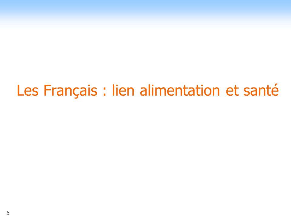 Les Français : lien alimentation et santé