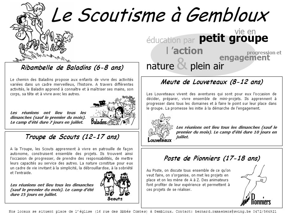 Le Scoutisme à Gembloux