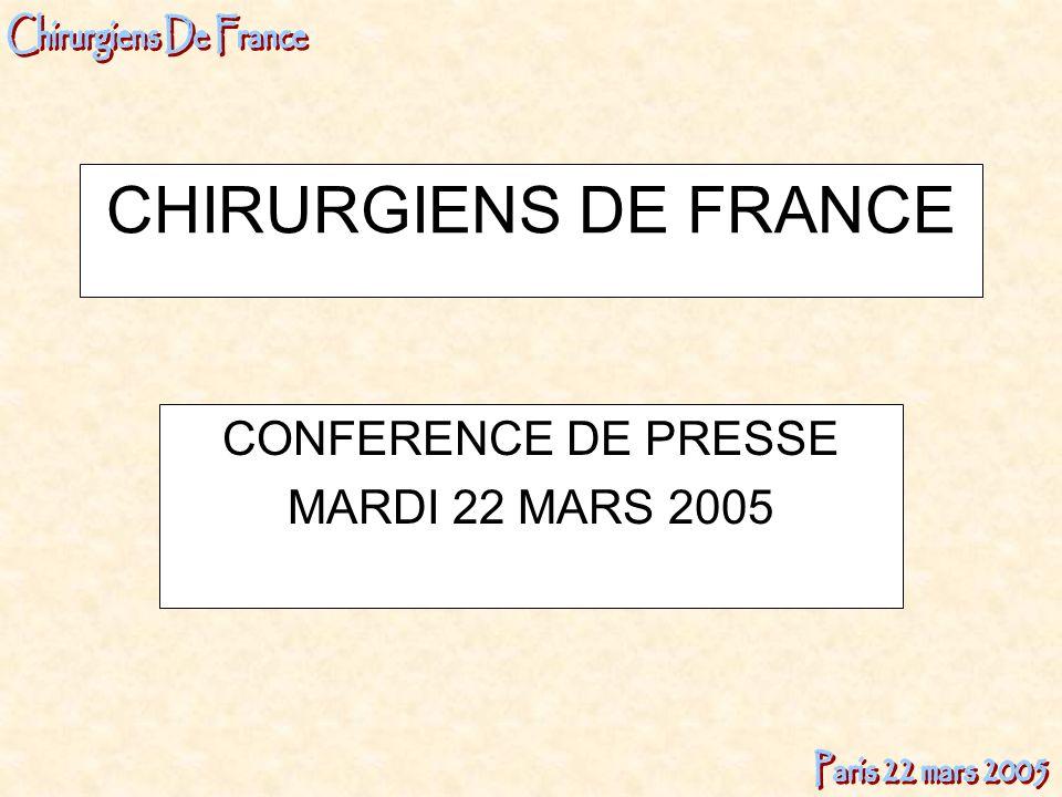 CONFERENCE DE PRESSE MARDI 22 MARS 2005