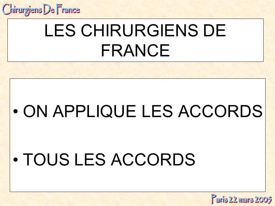 LES CHIRURGIENS DE FRANCE
