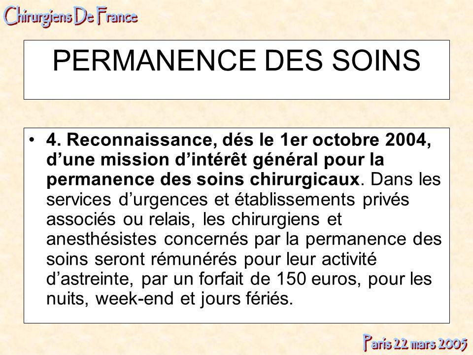 PERMANENCE DES SOINS