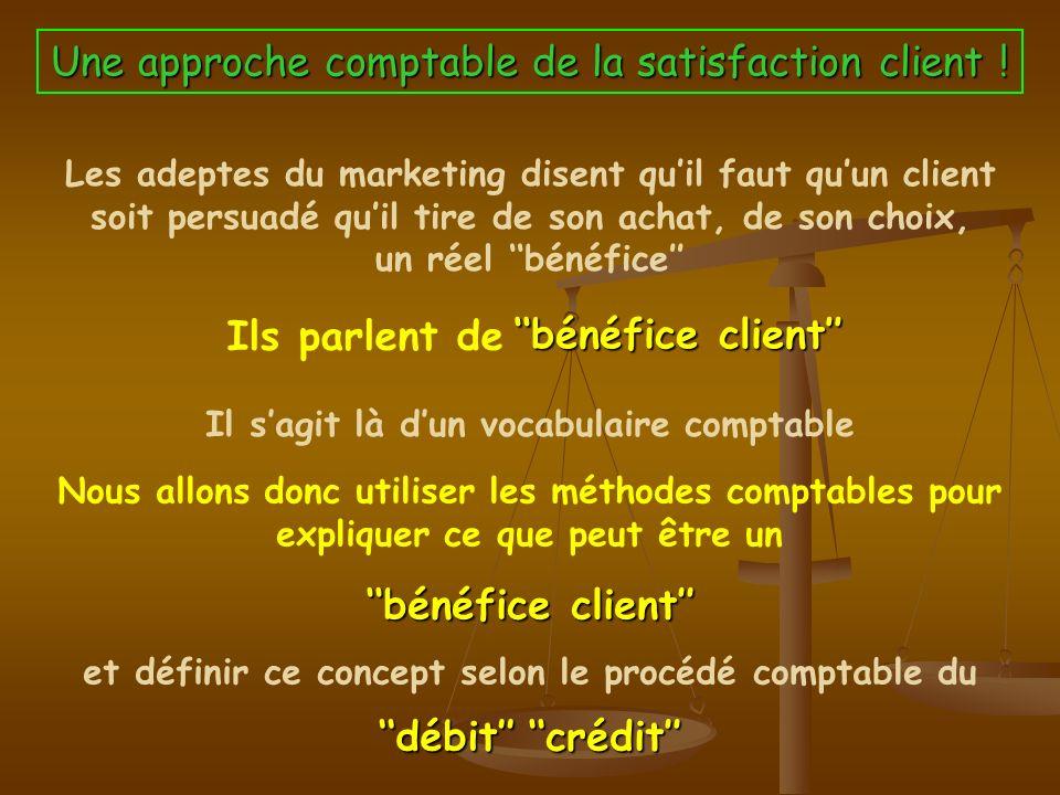 Une approche comptable de la satisfaction client !
