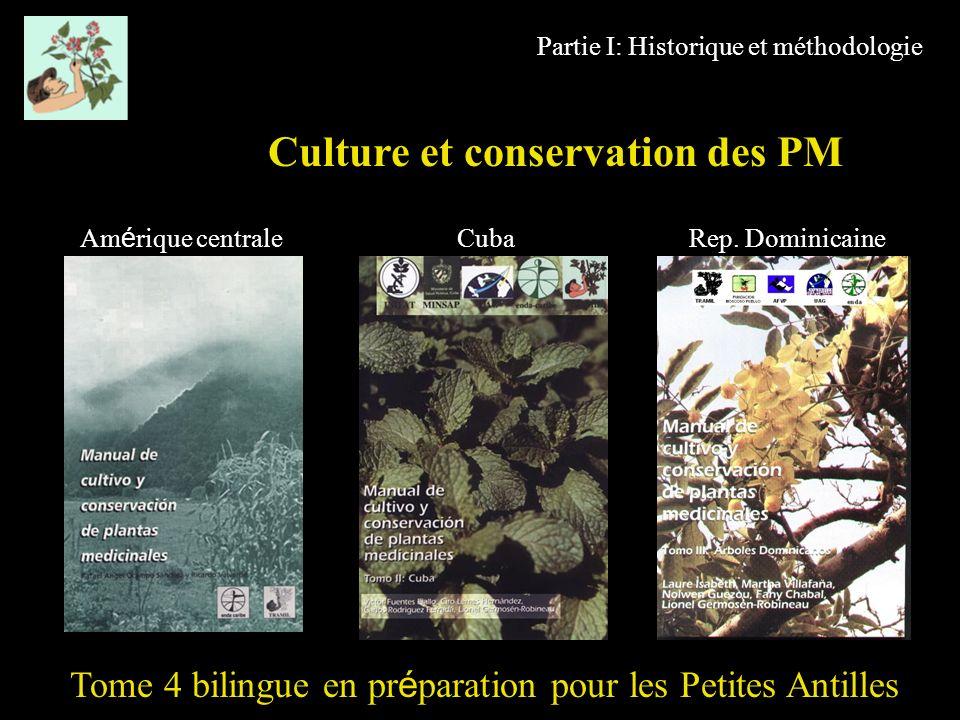 Culture et conservation des PM