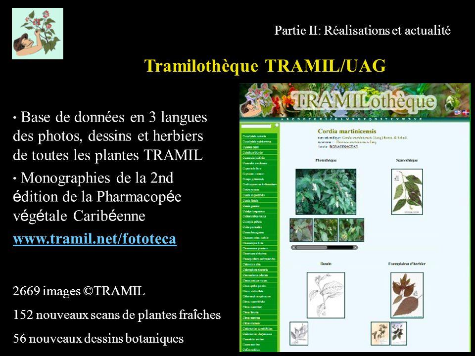 Tramilothèque TRAMIL/UAG