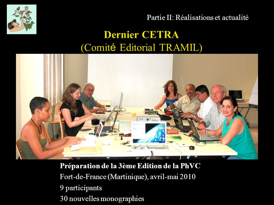 Dernier CETRA (Comité Editorial TRAMIL)