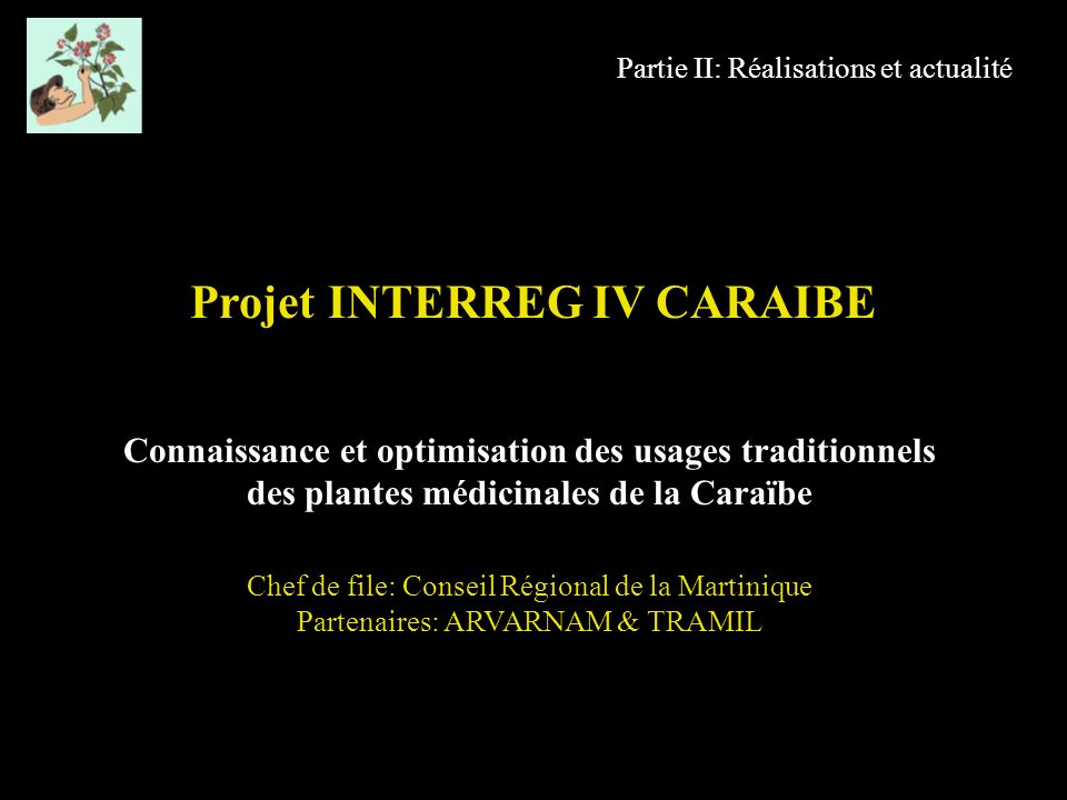 Projet INTERREG IV CARAIBE