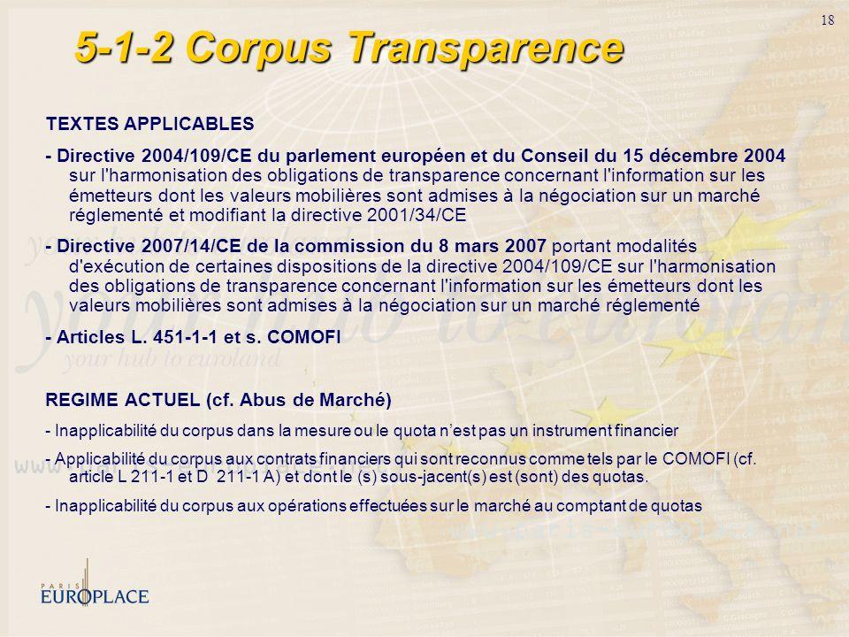 5-1-2 Corpus Transparence