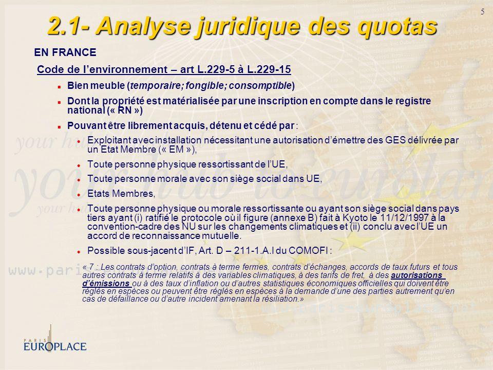 2.1- Analyse juridique des quotas