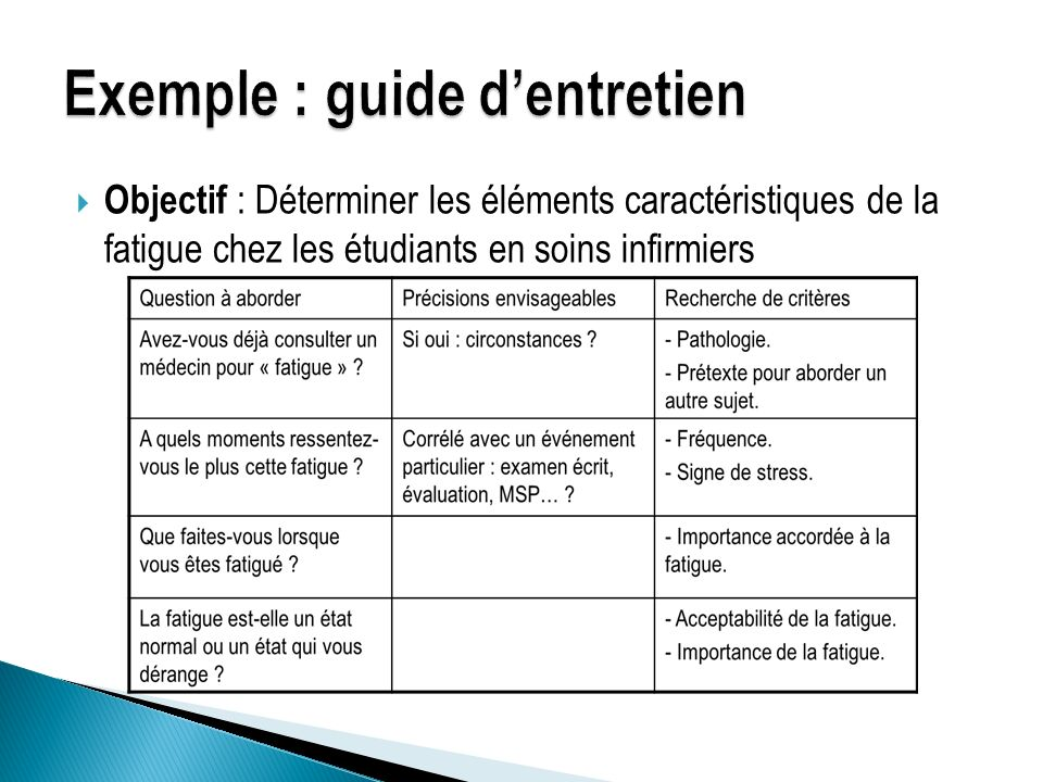 Entretien semi directif exemple de grille d entretien - Grille d entretien semi directif exemple ...