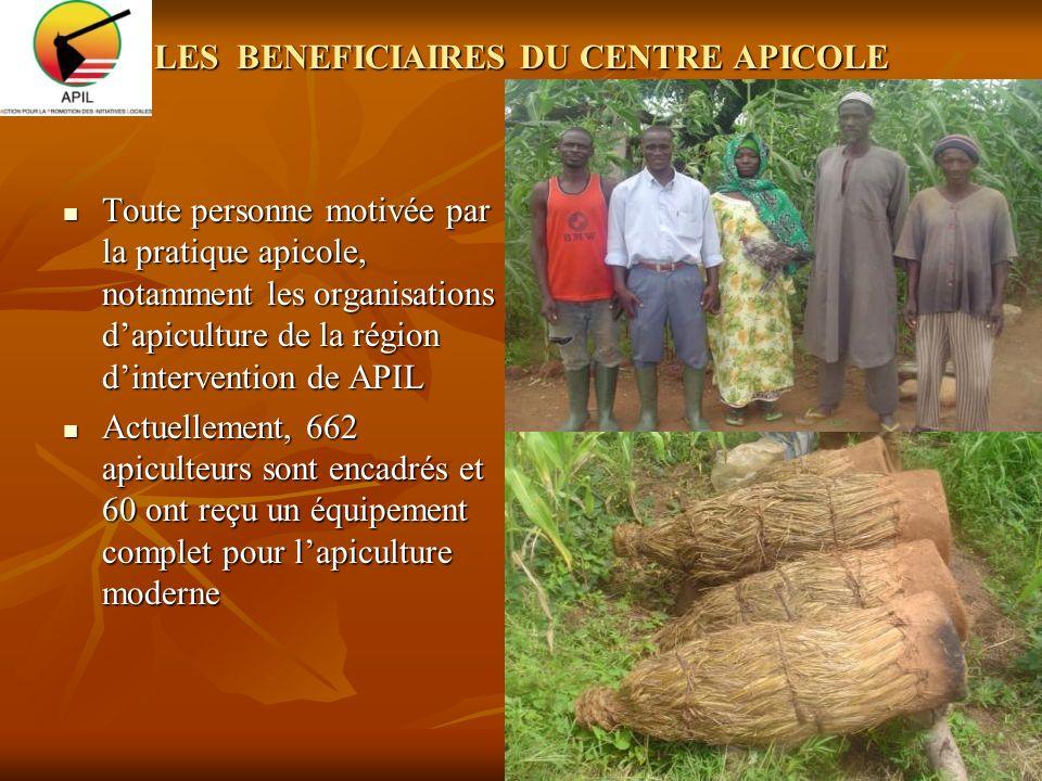LES BENEFICIAIRES DU CENTRE APICOLE