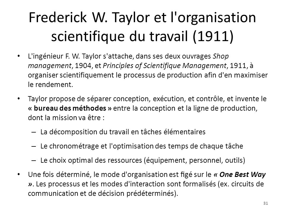 compare frederick taylors mass production and Specifically the scientific management of frederick taylor  with particular skill  sets the transformation of craft production into mass production  plants'  products and costs were compared to what they ought to be in 1895.