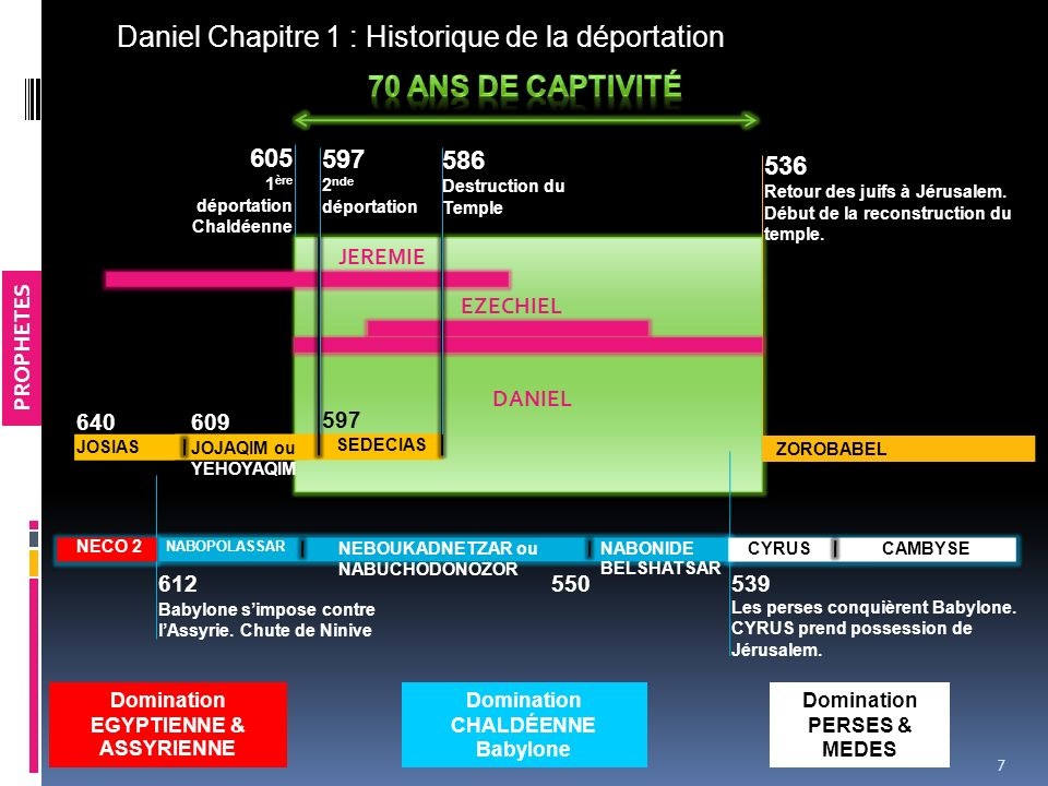 Daniel Chapitre 1 : Historique de la déportation