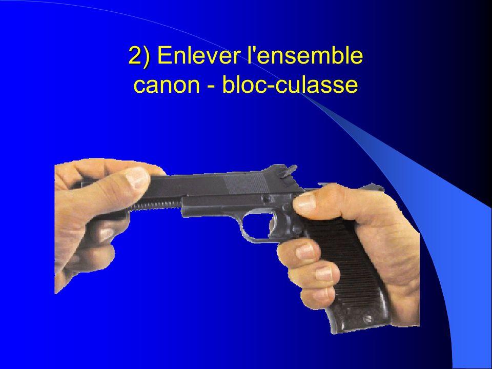 2) Enlever l ensemble canon - bloc-culasse