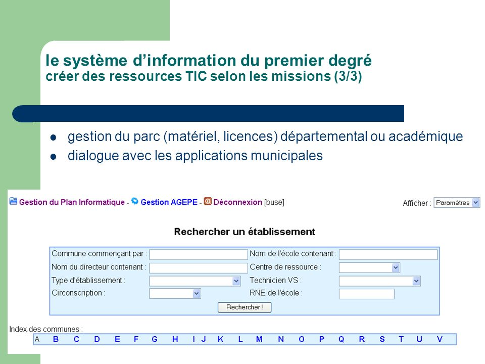 le système d'information du premier degré créer des ressources TIC selon les missions (3/3)