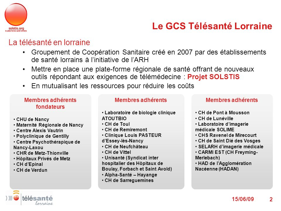 Le GCS Télésanté Lorraine