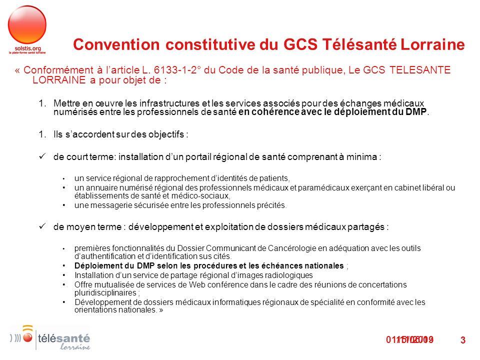 Convention constitutive du GCS Télésanté Lorraine