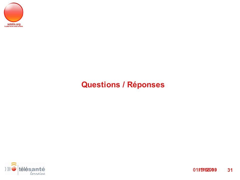 Questions / Réponses 15/06/09 22/03/2017 31 31