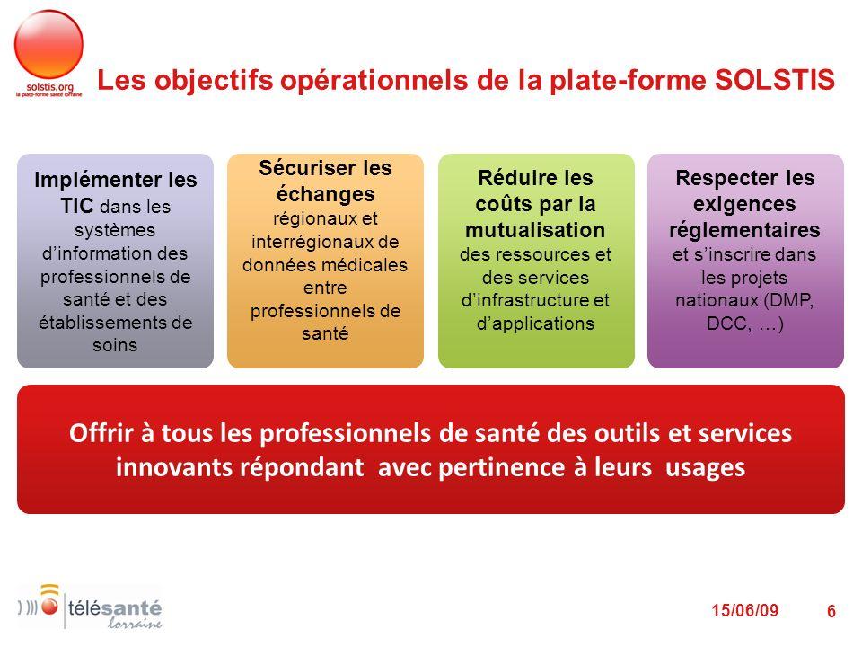 Les objectifs opérationnels de la plate-forme SOLSTIS