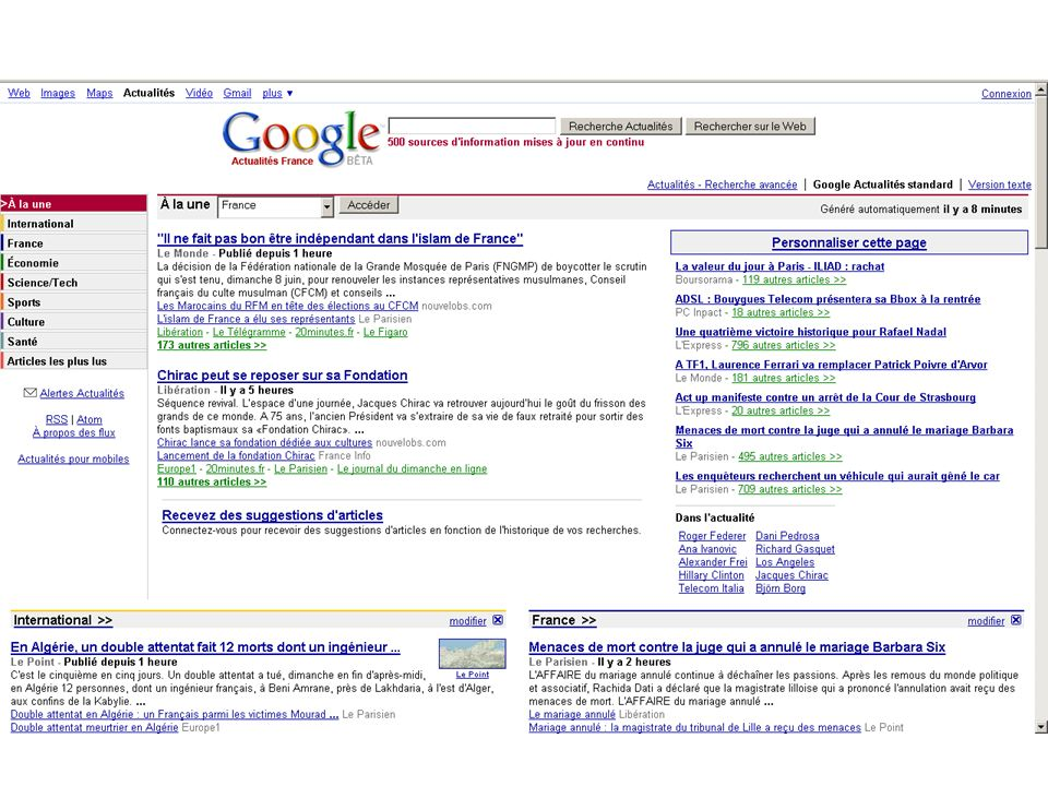 3 – SCREEN : google news front