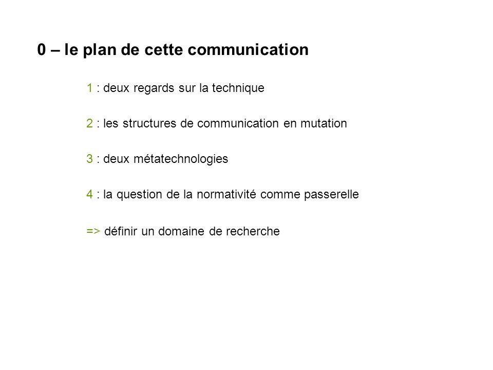 0 – le plan de cette communication