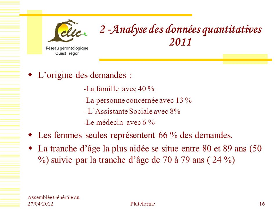 2 -Analyse des données quantitatives 2011