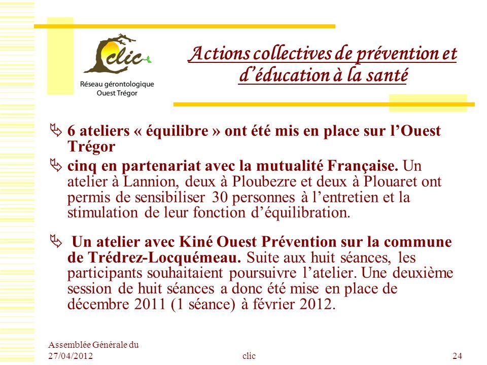 Actions collectives de prévention et d'éducation à la santé