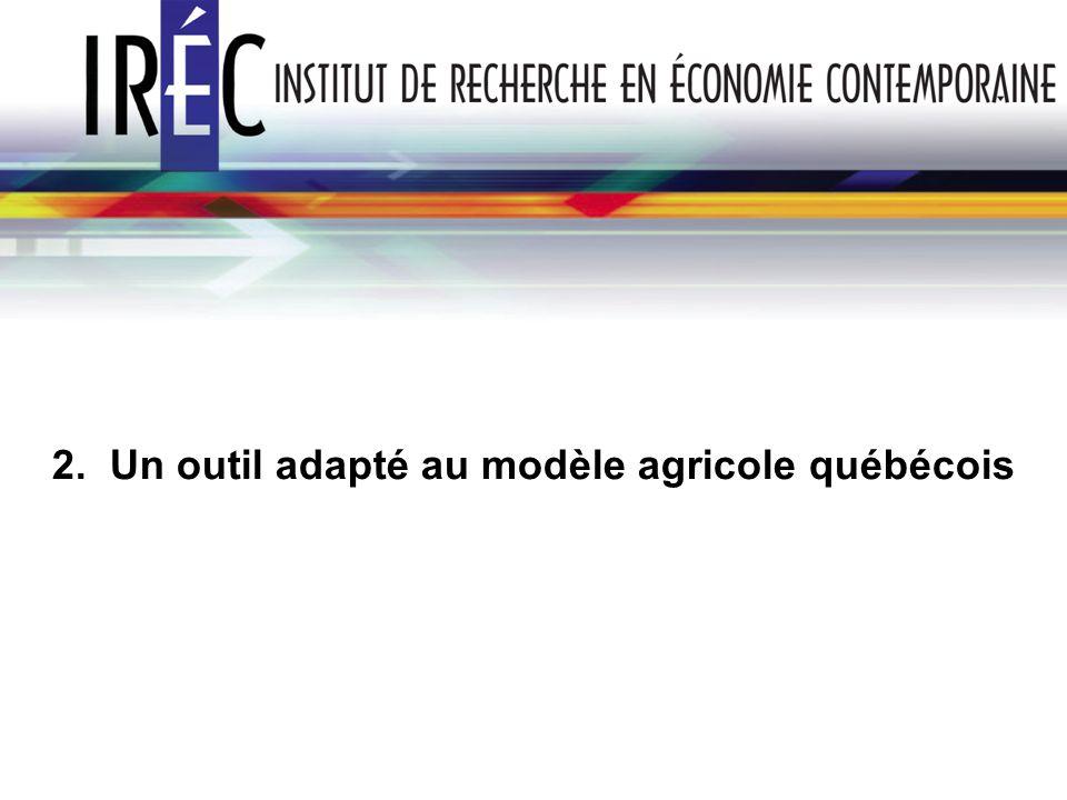2. Un outil adapté au modèle agricole québécois