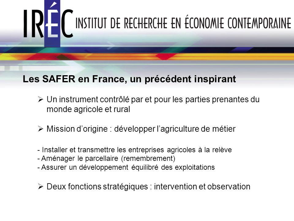 Les SAFER en France, un précédent inspirant