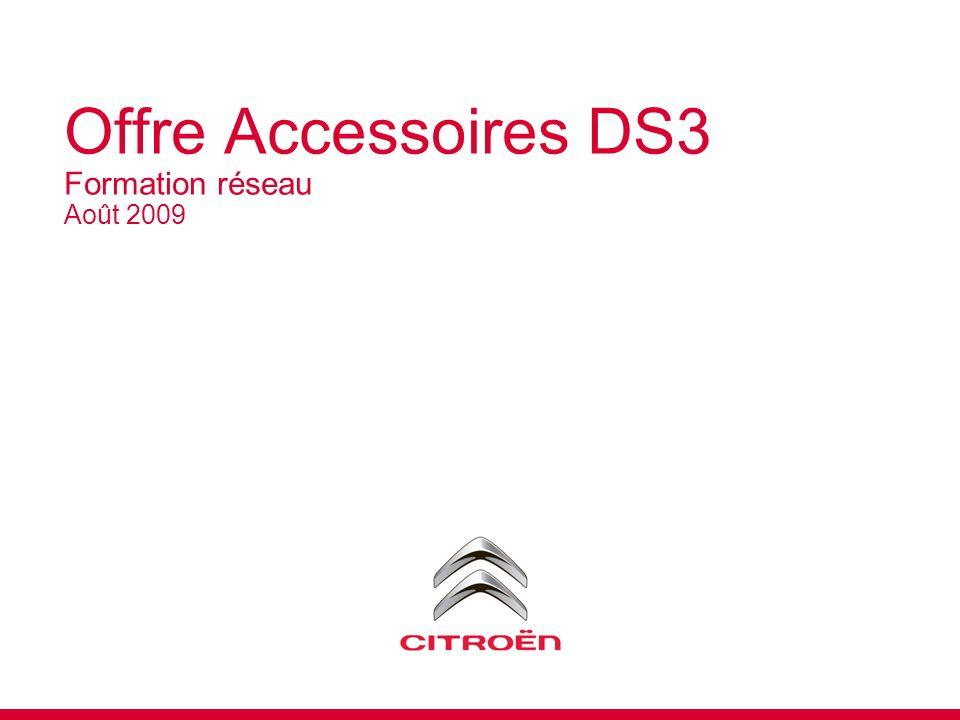 Offre Accessoires DS3 Formation réseau Août 2009