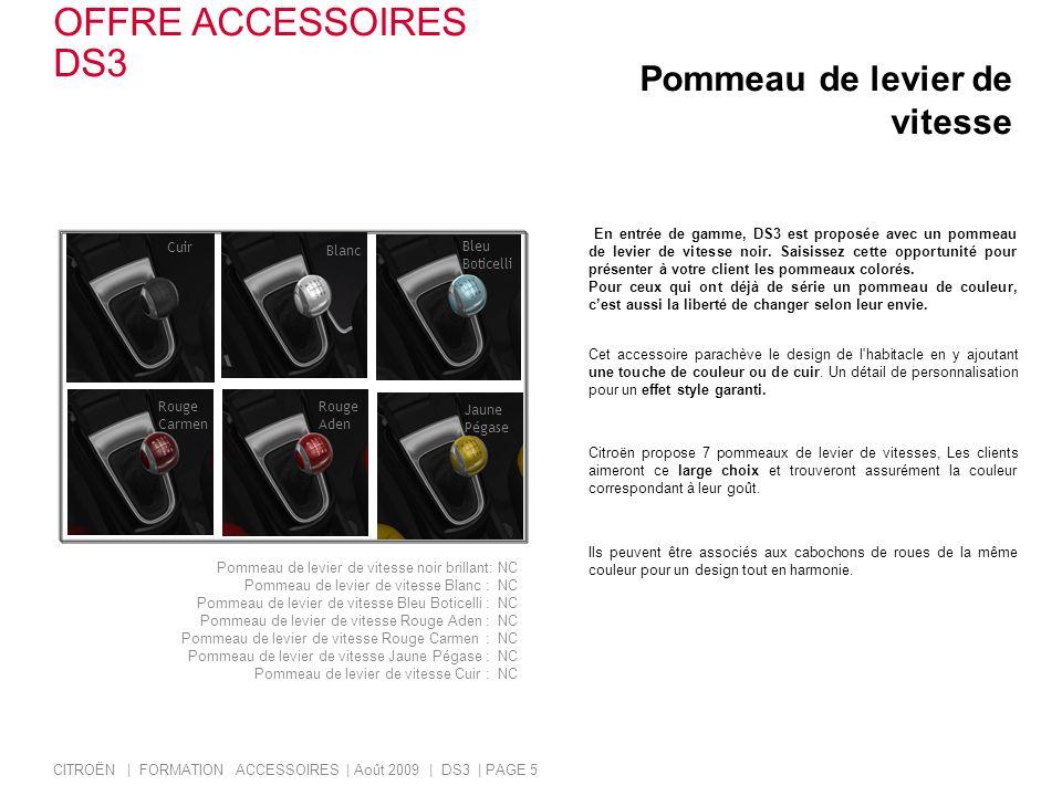 OFFRE ACCESSOIRES DS3 Pommeau de levier de vitesse