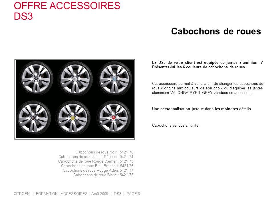 OFFRE ACCESSOIRES DS3 Cabochons de roues