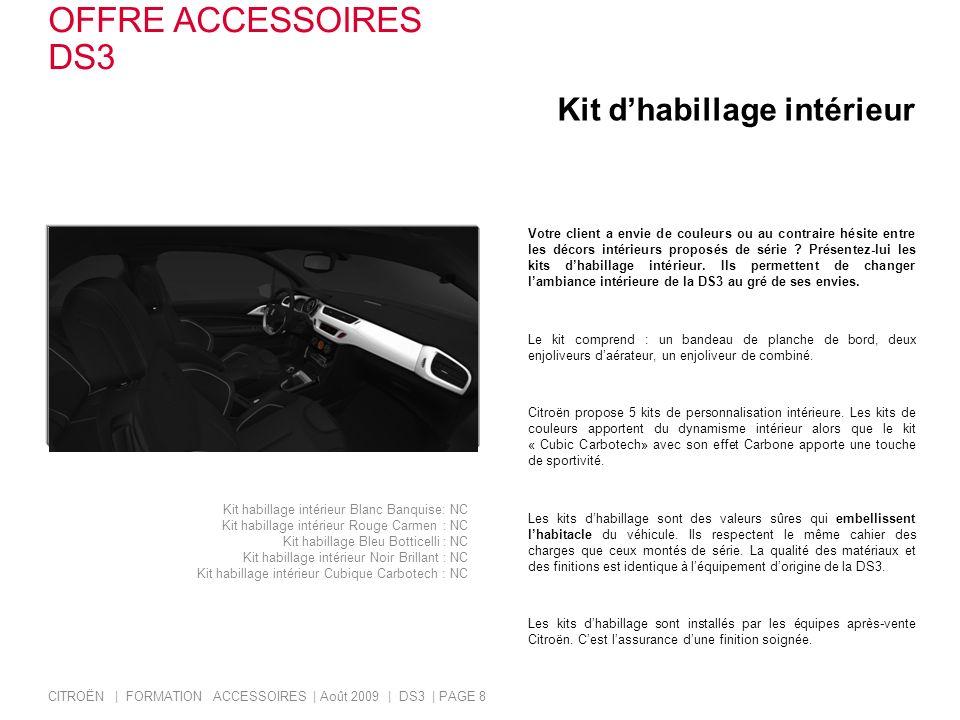 OFFRE ACCESSOIRES DS3 Kit d'habillage intérieur