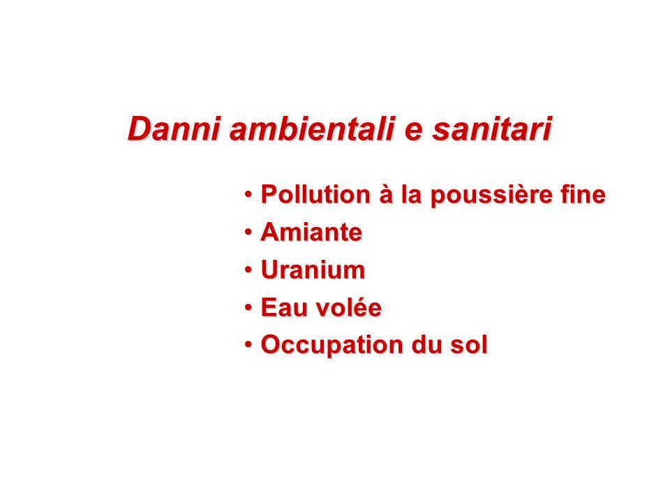 Danni ambientali e sanitari
