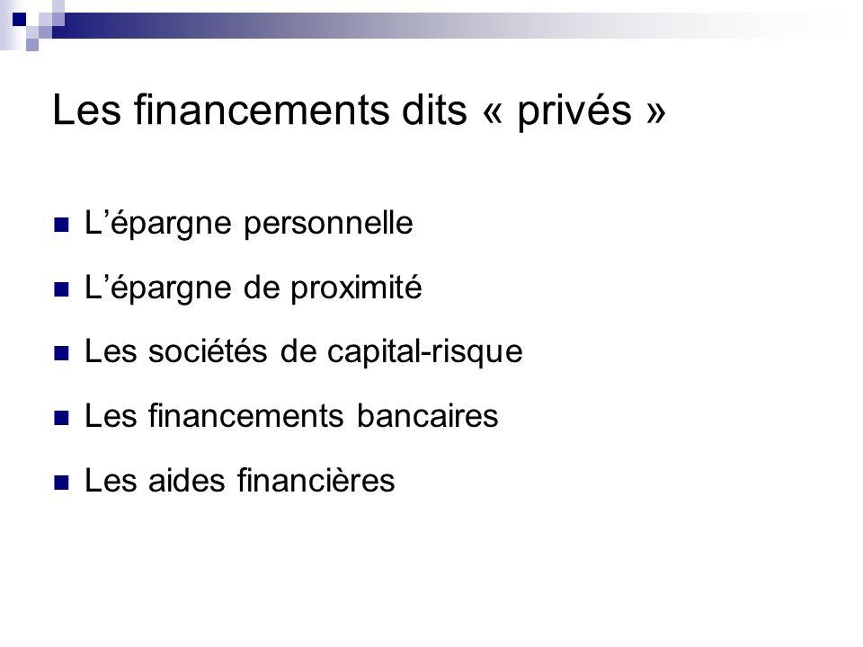 Les financements dits « privés »