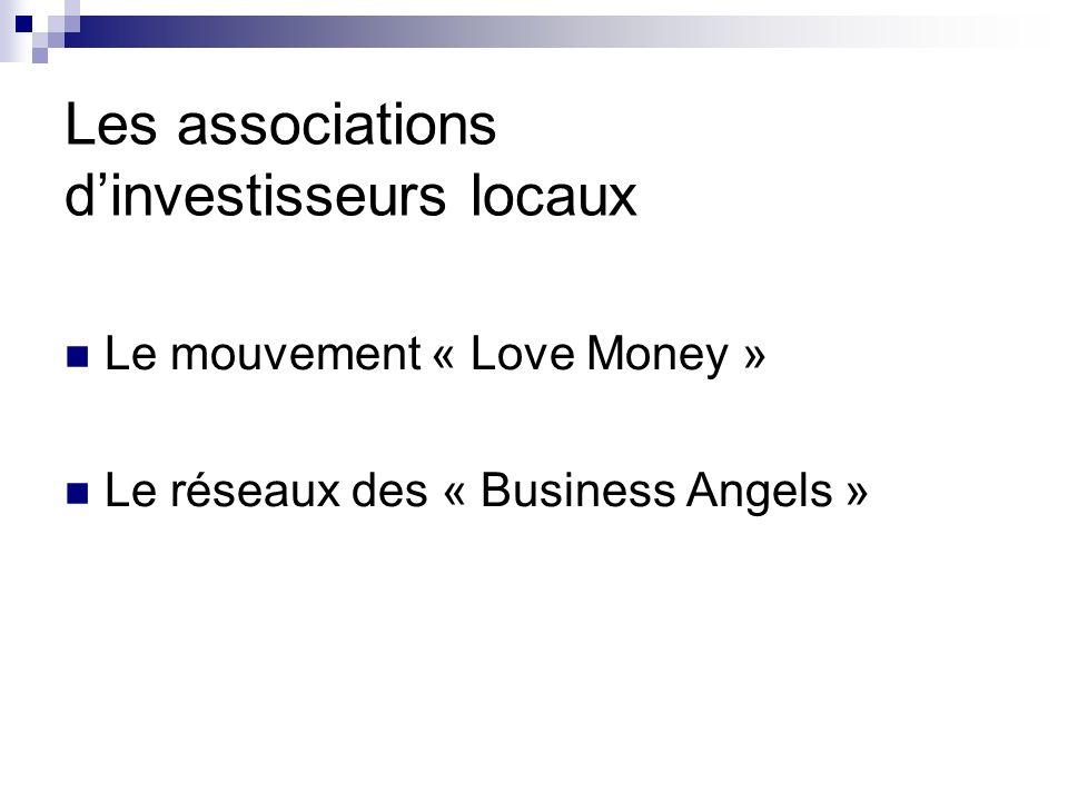 Les associations d'investisseurs locaux