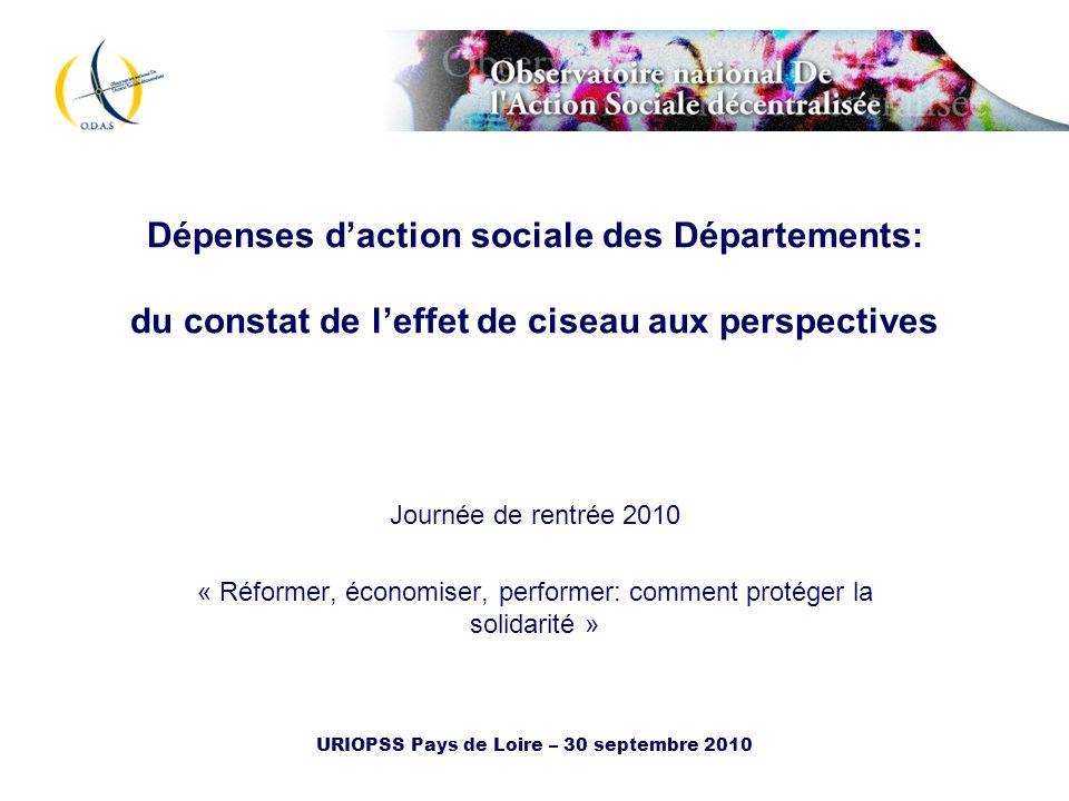 Dépenses d'action sociale des Départements: du constat de l'effet de ciseau aux perspectives